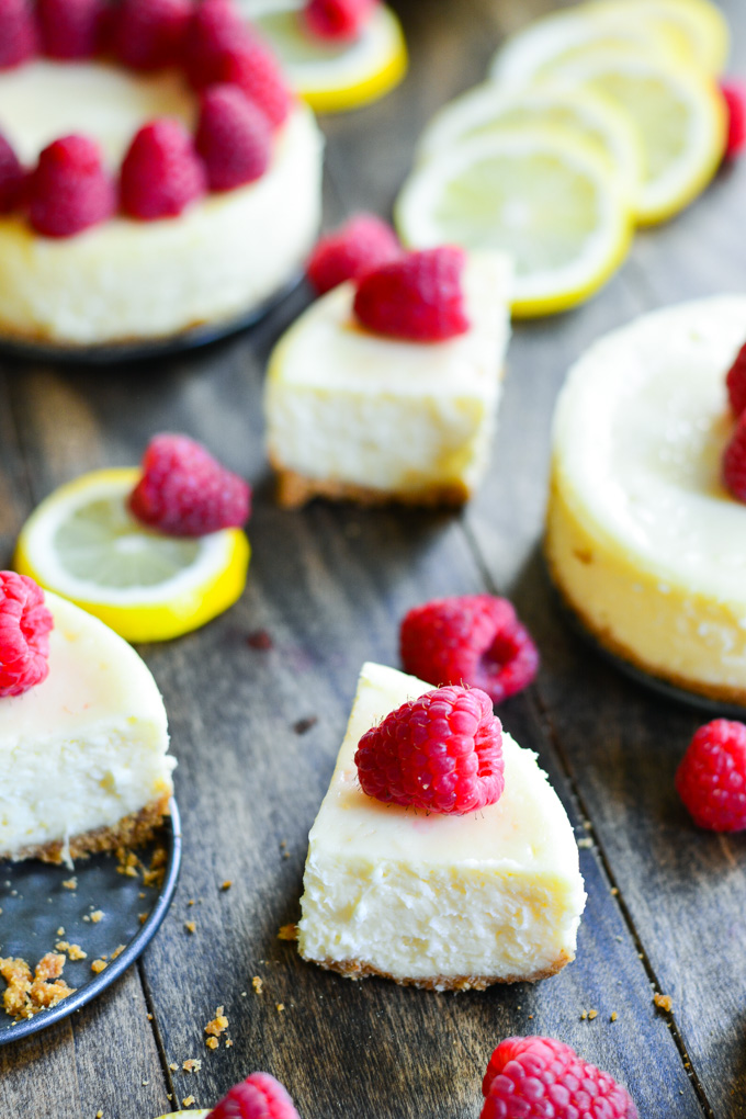 Raspberry Lemon Cheesecake | Garnish & Glaze