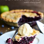 Blueberry Pie with a hint of apple | Garnish and Glaze