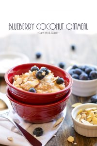 Blueberry Coconut Oatmeal | Garnish and Glaze