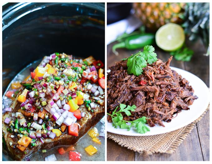 Hawaiian Beef Tacos |Garnish and Glaze