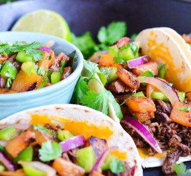 Hawaiian Beef Tacos | Garnish and Glaze