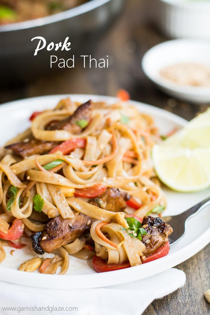 Pork Pad Thai Garnish Glaze