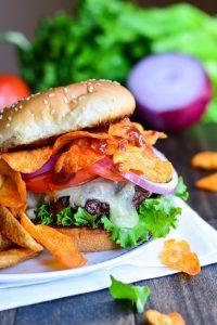 Triple BBQ Crunch Burger | Garnish & Glaze