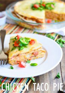 Creamy Chicken Taco Pie   Garnish & Glaze