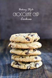 Bakery Style Chocolate Chip Cookies   Garnish & Glaze