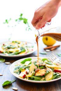 Peach & Apple Quinoa Salad with Cinnamon Honey Vinaigrette   Garnish & Glaze