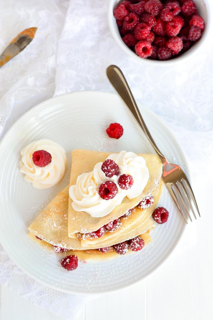 Raspberry Biscoff Crepes | Garnish & Glaze