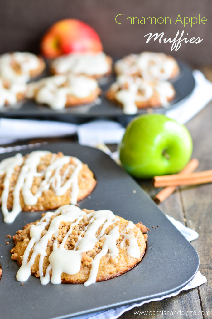 Cinnamon Apple Muffies | Garnish & Glaze
