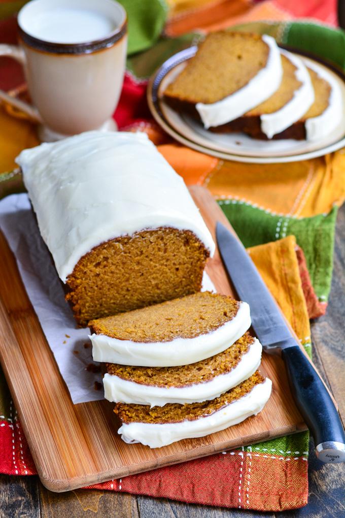 Pumpkin Bread with Cream Cheese Frosting   Garnish & Glaze