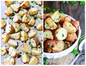 Garlic Roasted Red Potatoes | Garnish & Glaze