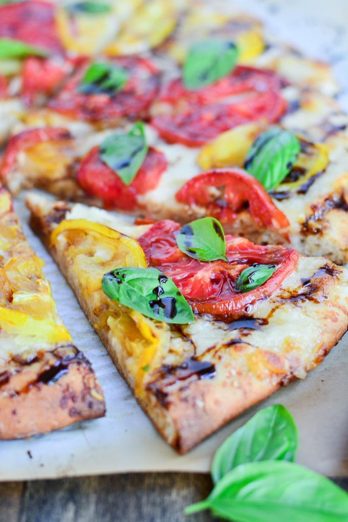 Three Cheese Caprese Pizza | Garnish & Glaze