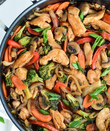 Chicken Broccoli Stir Fry | Garnish & Glaze