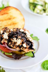 Balsamic and Goat Cheese Chicken Sandwich | Garnish and Glaze