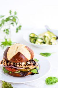 Balsamic and Goat Cheese Chicken Sandwich | Garnish and Glaze