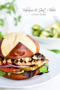 Balsamic and Goat cheese Chicken Burger | Garnish and Glaze