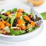 Roasted Butternut Squash Salad with Warm Apple Cider Vinaigrette | Garnish & Glaze
