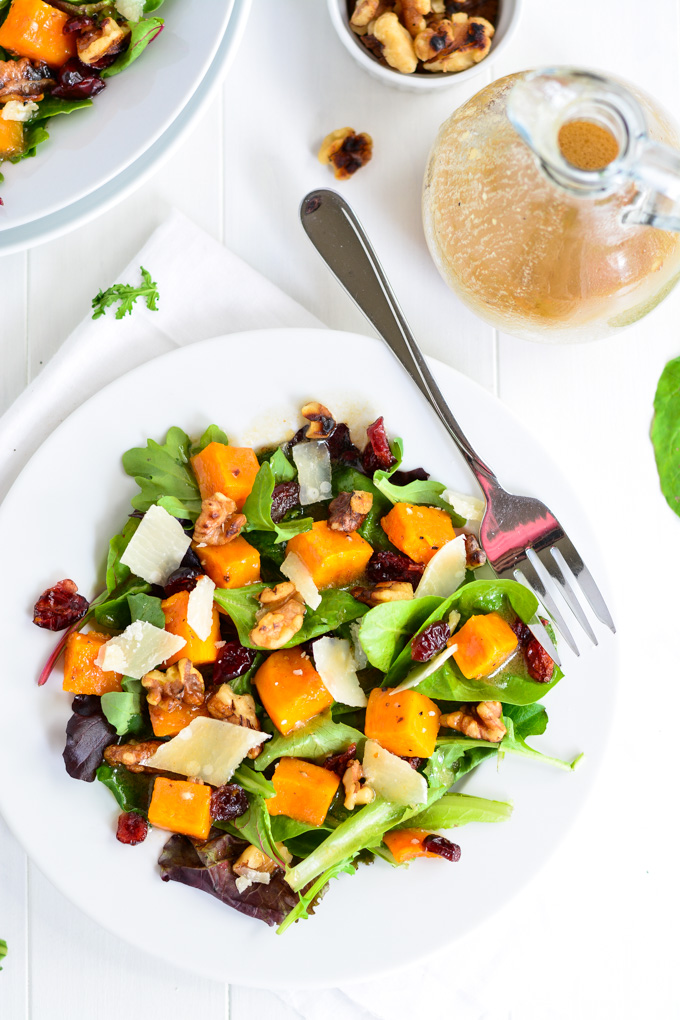 Roasted Butternut Squash Salad with Warm Apple Cider Vinaigrette ...