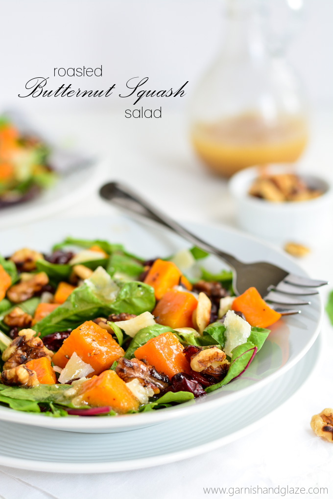 ... this Roasted Butternut Squash Salad with Warm Apple Cider Vinaigrette
