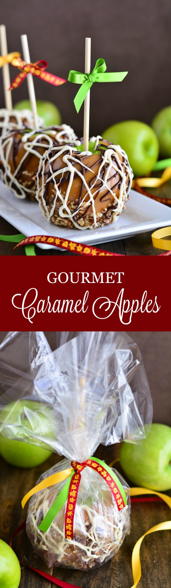 Nothing says fall quite like a homemade Gourmet Caramel Apple with smooth buttery made-from-scratch caramel!