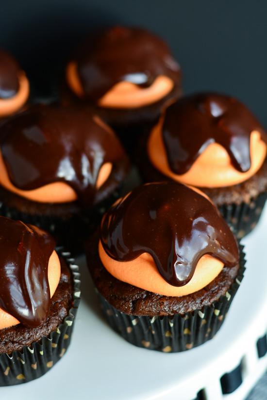 Chocolate Pumpkin Cupcakes   Garnish & Glaze