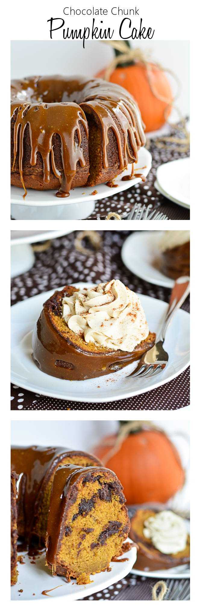 Chocolate Chunck Pumpkin Cake | Garnish and Glaze