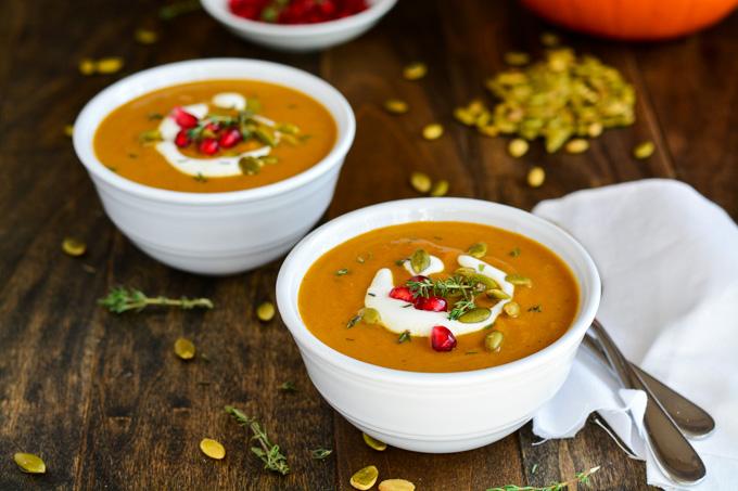 Autumn Spice Pumpkin Soup | Garnish & Glaze
