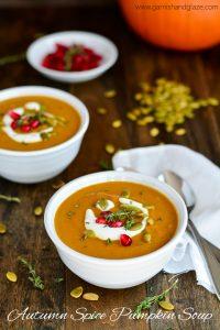 Autumn Spice Pumpkin Soup   Garnish & Glaze