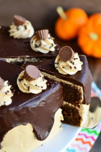 Peanut Butter Chocolate Pumpkin Cake   Garnish & Glaze #peanutbutterbash