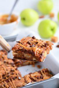 Caramel Apple Blondies | Garnish & Glaze