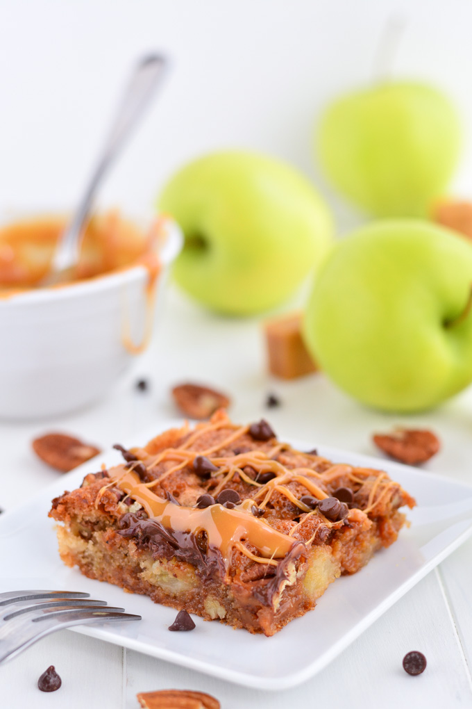 Caramel Apple Blondies | Garnish & Glaze