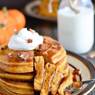 Whole Wheat Buttermilk Pumpkin Pancakes