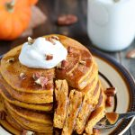 Whole Wheat Buttermilk Pumpkin Pancakes | Garnish & Glaze