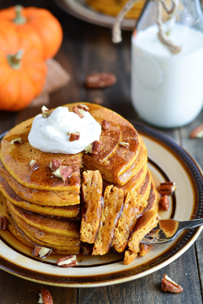 Pumpkin Pie Pancakes | Garnish & Glaze
