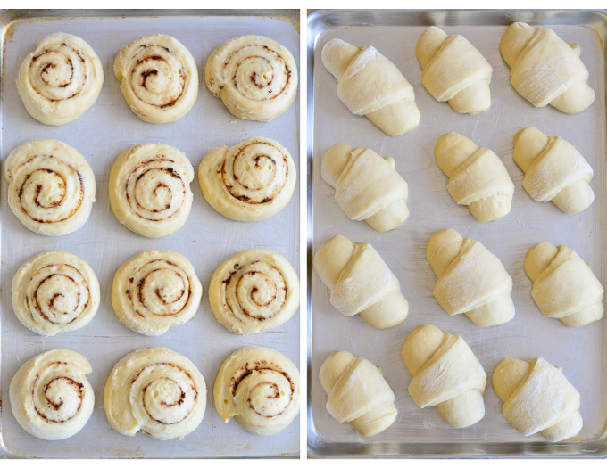 Crescent Rolls & Cinnamon Rolls made from one dough | Garnish & Glaze