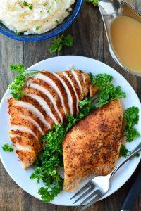 Slow Cooker Turkey Breast   Garnish and Glaze