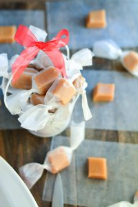 Homemade Christmas Caramels | Garnish & Glaze
