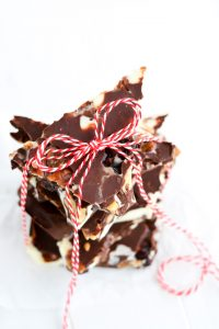 Spiced Pecan Triple Chocolate Bark | Garnish & Glaze