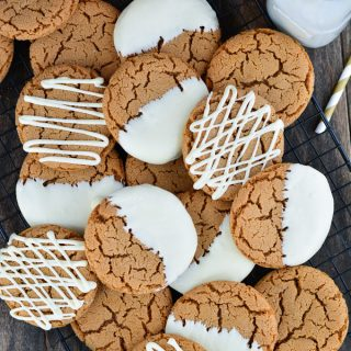 White Chocolate Dipped Gingersnaps | Garnish & Glaze