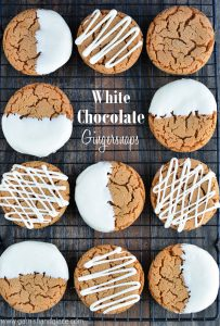 White Chocolate Dipped Gingersnaps   Garnish & Glaze