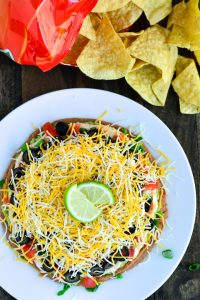 Mexican Layered Dip | Garnish & Glaze
