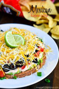 Mexican Layered Dip | Garnish & Glaze