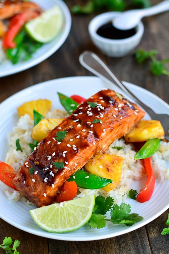 Teriyaki Salmon Stir Fry | Garnish & Glaze