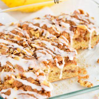 Banana Coffee Cake- A great way to use up those over ripe bananas! | Garnish & Glaze