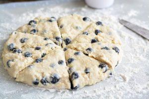 Blueberry Scones   Garnish & Glaze