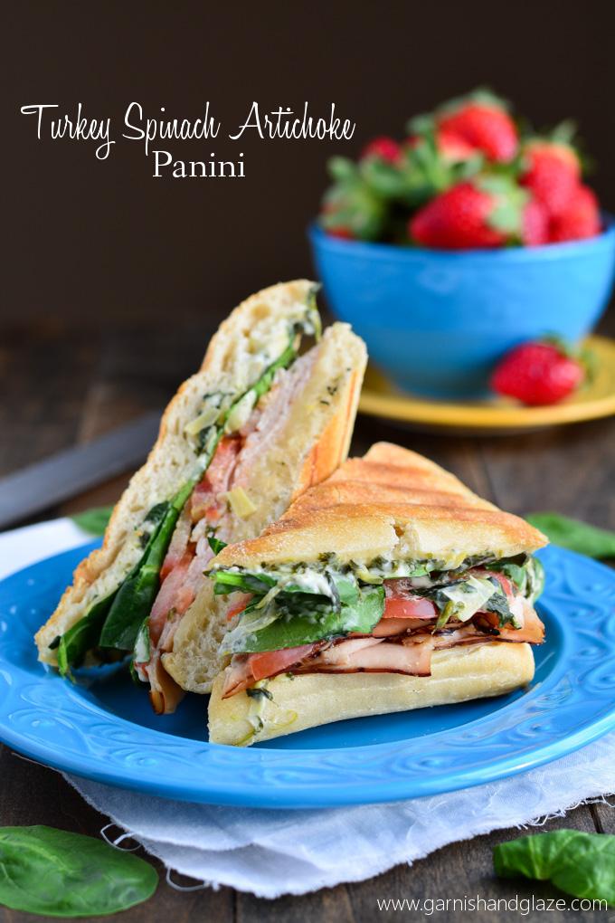 Turkey Spinach Artichoke Panini | Garnish & Glaze