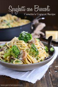 Spaghetti con Broccoli   Garnish and Glaze