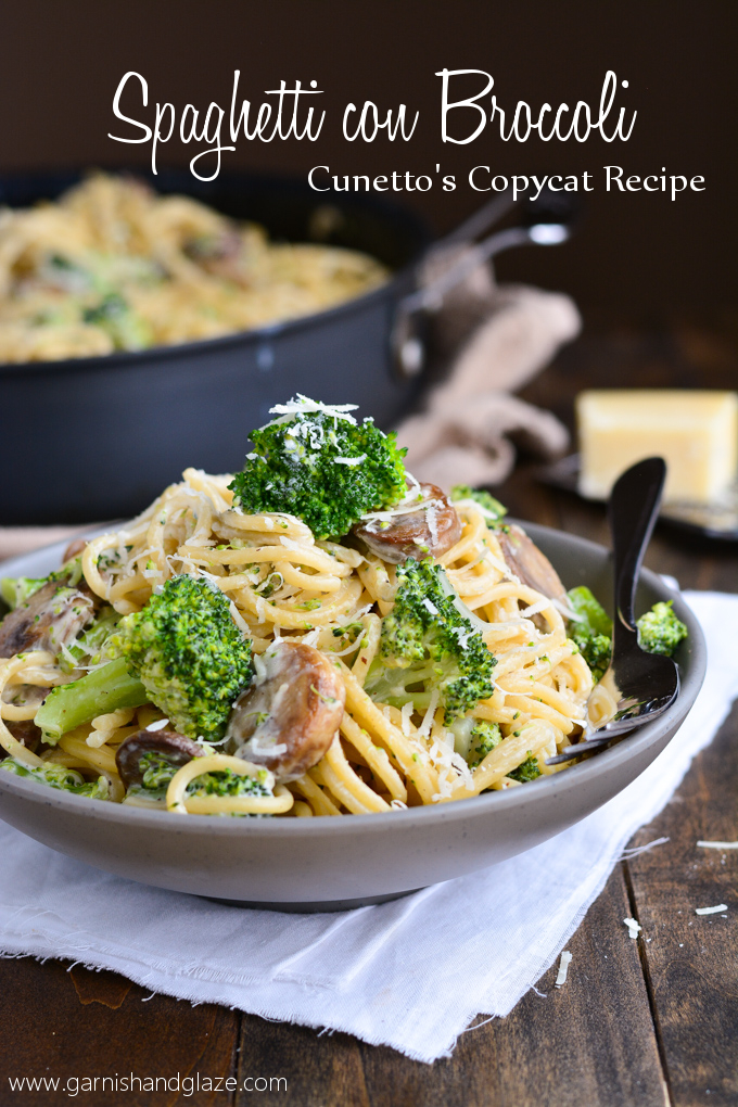 Spaghetti con Broccoli | Garnish and Glaze
