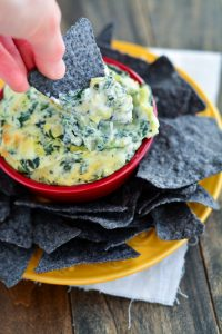 Three Cheese Spinach Artichoke Dip | Garnish & Glaze