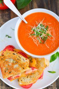 Tomato Basil Soup   Garnish & Glaze