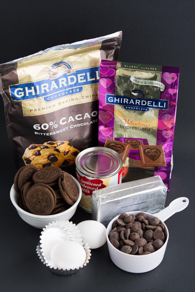 Mini Triple Chocolate Cheesecakes- The perfect rich chocolate Valentine's Day treat   Garnish & Glaze